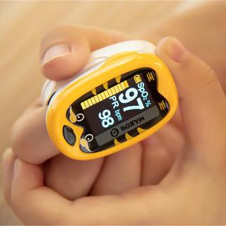 【未使用】小児用 充電式LEDパルスオキシメーター 色:イエロー 東京より発送
