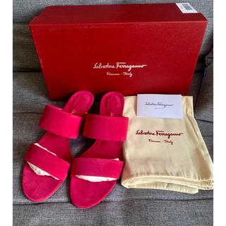Salvatore Ferragamo - 新品未使用 フェラガモ  サンダル スウェード BELLUNO ピンク