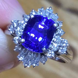 綺麗✨タンザナイト&ダイヤモンドリング 指輪 約7.5号 簡易鑑別付(リング(指輪))