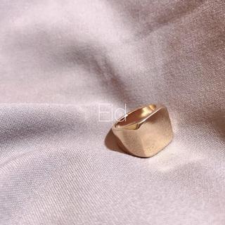 ローリーズファーム(LOWRYS FARM)のSquare gold ring No.92(リング(指輪))