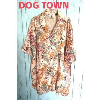 ドッグタウン(DOG TOWN)のDOGTOWN ドッグタウン アロハシャツ 黒龍 和柄シャツ 花柄 鶴 和風模様(シャツ)