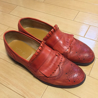 グラム(glamb)のglamb 赤ローファー(ローファー/革靴)