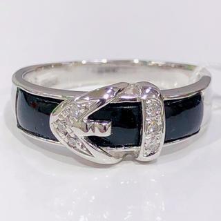 ベルトモチーフ K18WG オニキス ダイヤモンド リング(リング(指輪))