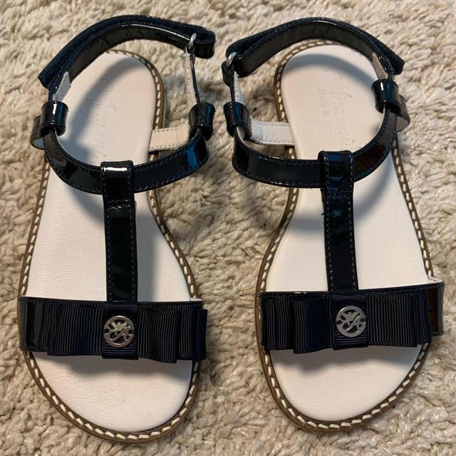 ARMANI JUNIOR(アルマーニ ジュニア)のアルマーニ サンダル サイズ28 未使用 キッズ/ベビー/マタニティのキッズ靴/シューズ (15cm~)(サンダル)の商品写真