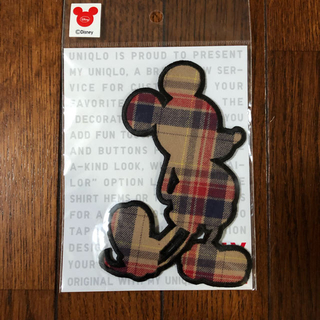 ユニクロ(UNIQLO)のミッキー 刺繍ワッペン(ファッション雑貨)