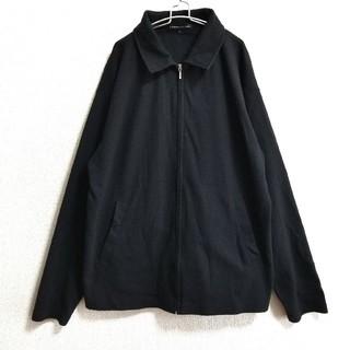 コムデギャルソン(COMME des GARCONS)の襟付き ジップアップブルゾン ワッフル生地 黒 韓国系 (ブルゾン)