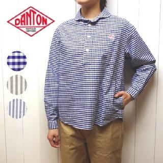 DANTON - DANTONダントン/定番プルオーバーオックスフォードギンガムチェックシャツ新品