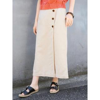 LOWRYS FARM - LOWRYS FARM リネンサイドボタンタイトスカート