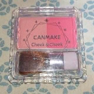 キャンメイク(CANMAKE)のキャンメイク・チーク&チーク(04)(チーク)