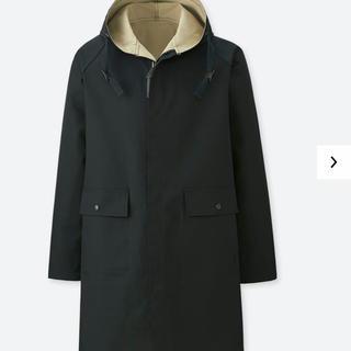 ユニクロ(UNIQLO)のJWアンダーソン ユニクロ リバーシブルフーデッドコート 黒×ベージュ XXL(モッズコート)