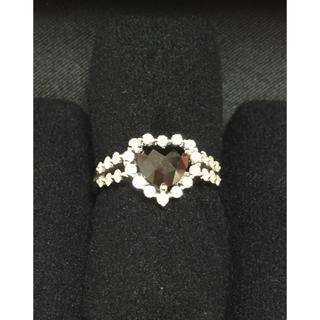 K18wg ブラックダイヤモンド1ct リング(リング(指輪))