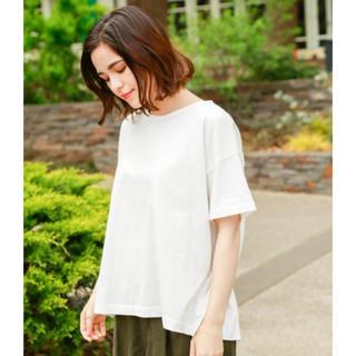 ニコアンド(niko and...)のニコアンド バックペプラム Tシャツ ホワイト Mサイズ(Tシャツ(半袖/袖なし))