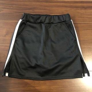 WEGO - ラインタイトミニスカート 黒 ブラック