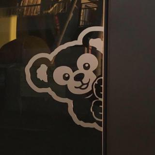 ひょっこりクマさんペアステッカー ダフメイ風 リアサイドガラスに!N-BOXなど
