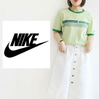 ナイキ(NIKE)の【激カワ♡】NIKE ゆるだぼ リンガーシャツ ライトグリーン Tシャツ 半袖(Tシャツ(半袖/袖なし))