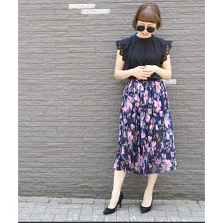 OZOC - coca 花柄プリーツスカート