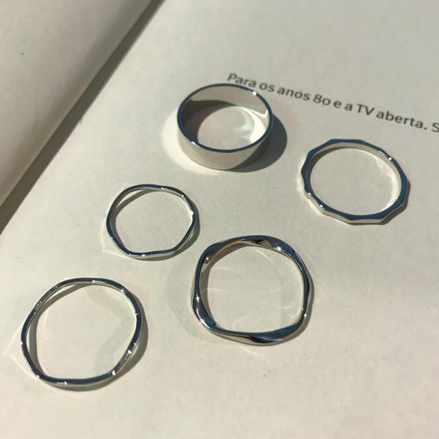 TODAYFUL(トゥデイフル)のシンプルリング5点セット★ レディースのアクセサリー(リング(指輪))の商品写真