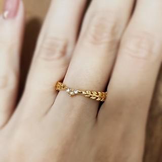 エテ(ete)のリーフリング*ゴールド*指輪(リング(指輪))