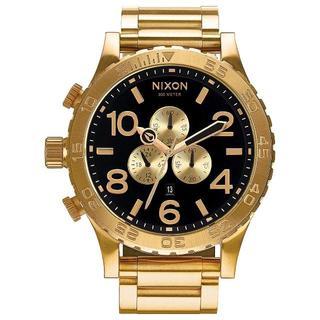 NIXON - NIXON 腕時計 51-30 A083-510 オールゴールド ブラック