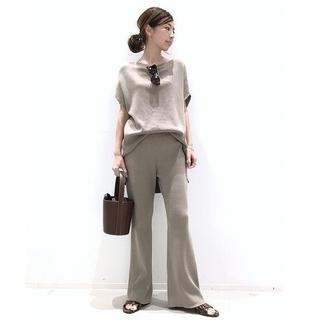 L'Appartement DEUXIEME CLASSE - アパルトモン☆Rib Knit パンツ34、F/S Tunic上下セット 新品