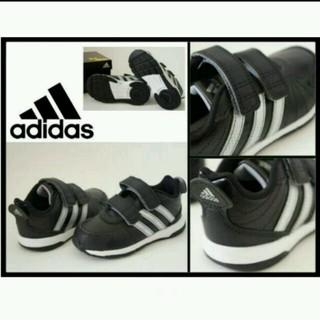 アディダス(adidas)の新品アディダス 黒シルバー13.5cm (スニーカー)
