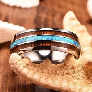 ステンレスリング ターコイズブルー(リング(指輪))