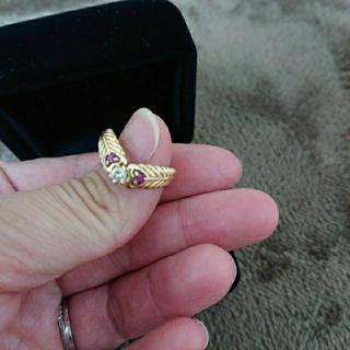 k18ルビーダイヤモンド指輪