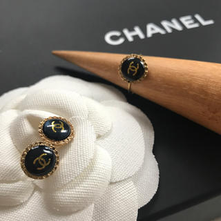 CHANEL - CHANEL ヴィンテージ ピアス 11mm リング 11号(調節可能)