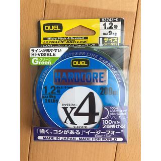 【新品未開封】DUEL ハードコア x4 1.2号 MAX9kg 200m(釣り糸/ライン)