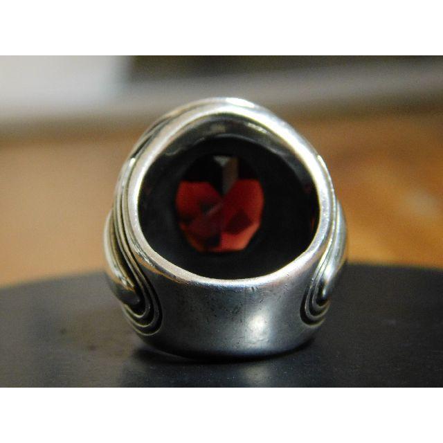 M's collection(エムズコレクション)のエムズコレクション ガーネット リング 7号 アクセサリー シルバー メンズのアクセサリー(リング(指輪))の商品写真