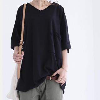 アンティカ(antiqua)のantiqua ヴィンテージライク 大人のこなれ極上くったり感 ポケ付ビッグT(Tシャツ(半袖/袖なし))