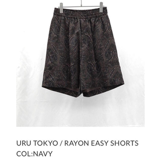 UNUSED - URU RAYON EASY SHORTS 19ss ペイズリーショーツ