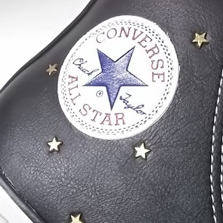 コンバース(CONVERSE)の 定価1.2万!限定希少コンバースハイ高級本革レザースニーカー人気黒白!   (スニーカー)