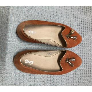 tenace 革靴 オレンジ 24.5 未使用(ローファー/革靴)