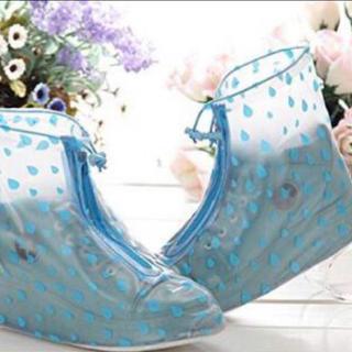 靴の上から履けるレインシューズ カバー 携帯ポーチ付き (長靴/レインシューズ)