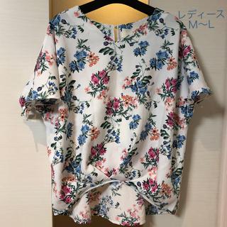 シマムラ(しまむら)のM 〜L 美品 花柄 トップス (カットソー(半袖/袖なし))