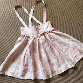 リズリサ(LIZ LISA)のLIZ LISA プリンセス柄サス付きスカート ピンク(ひざ丈スカート)