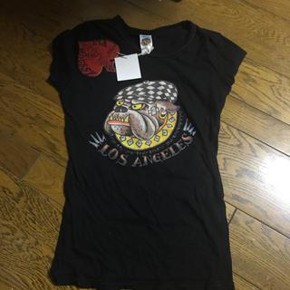 マウジー(moussy)の新品moussyマウジーエドハーディコラボTシャツサイズs(Tシャツ(半袖/袖なし))