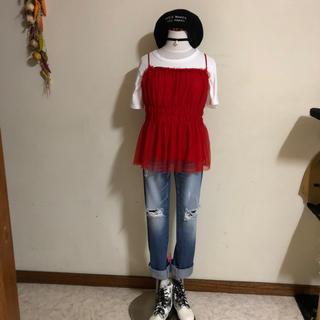 マウジー(moussy)の☆コーデセット☆MOUSSYデニム&H&Mビスチェ&Tシャツ☆3点セット(セット/コーデ)