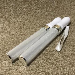 LED ペンライト 15色 2本セット販売 シルバー コンサートライト(アイドルグッズ)