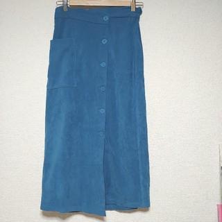 メルロー(merlot)のウエストスカラップの巻きスカート(ロングスカート)