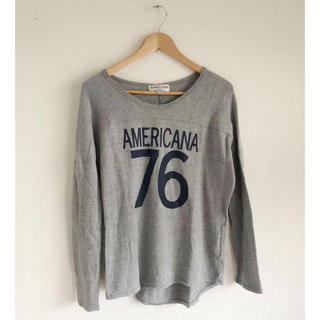 アメリカーナ(AMERICANA)のAMERICANA ナンバリングカットソー(Tシャツ(長袖/七分))