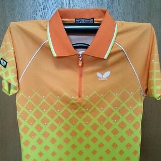 バタフライ(BUTTERFLY)の卓球 ユニフォーム Tシャツ 新品 オレンジ ライトブルー イエロー(卓球)