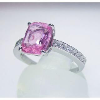 大粒天然ピンクサファイヤ1.75ctデザインリング(リング(指輪))