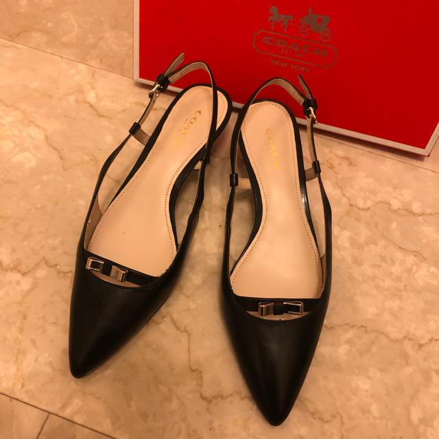 COACH(コーチ)の未使用 新品 美品 COACH コーチ バックストラップ パンプス レディースの靴/シューズ(ハイヒール/パンプス)の商品写真