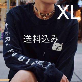 Supreme - 【XL】RIPNDIP Lord Nermal Pocket L/S ロンT 黒