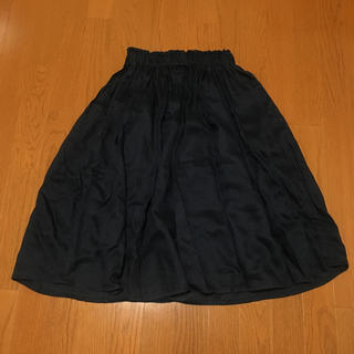 MUJI (無印良品) - 無印良品  リネンイージーギャザースカート s