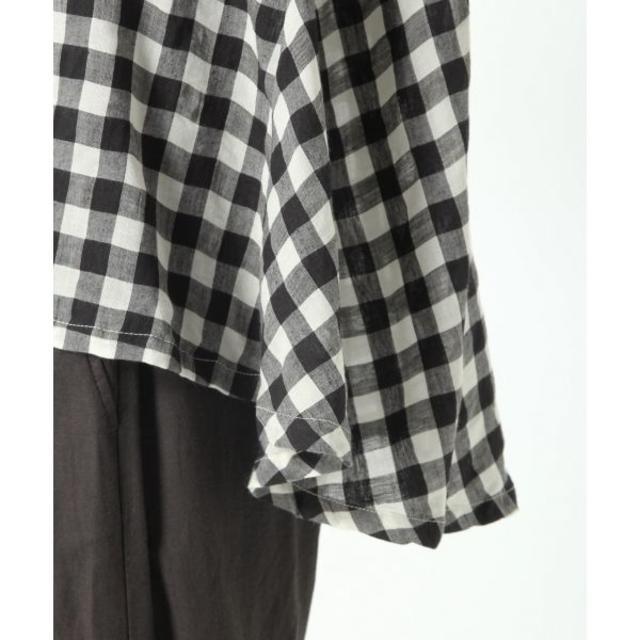 STUDIO CLIP(スタディオクリップ)の【ktst53335様専用】スタジオクリップ ギンガムバックフレアブラウス レディースのトップス(シャツ/ブラウス(半袖/袖なし))の商品写真