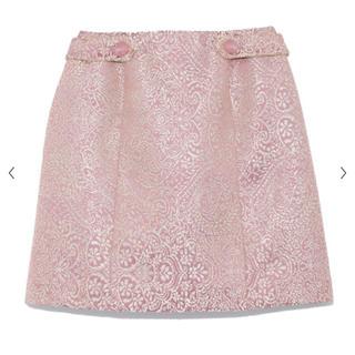Lily Brown - ジャガード台形スカート