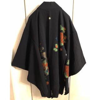 和モード!羽織 黒 yohji yamamoto メンズ 和柄 着物 ⑧